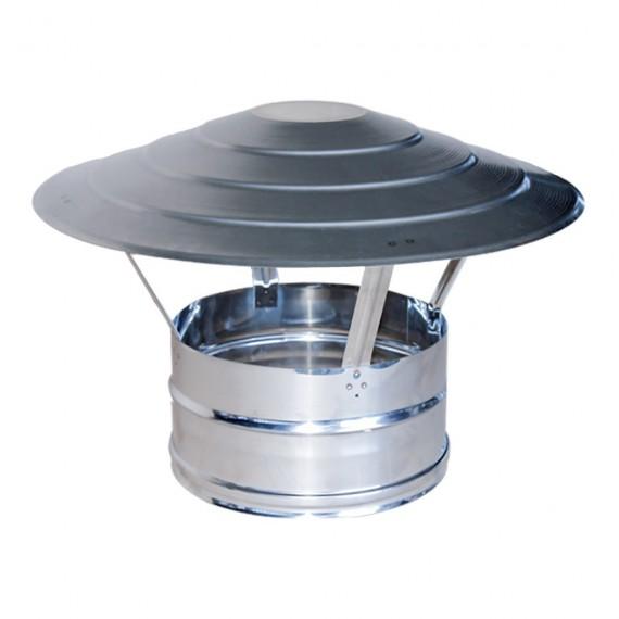 Comignolo cinese in acciaio inox AISI 304 per canna fumaria