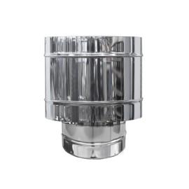 Comignolo a botte antivento in acciaio inox AISI 304 per canna fumaria