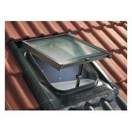 Lucernaio classico L 45 x H 57 Claus serie Base WL02RMV rosso mattone con vetro retinato 6 mm