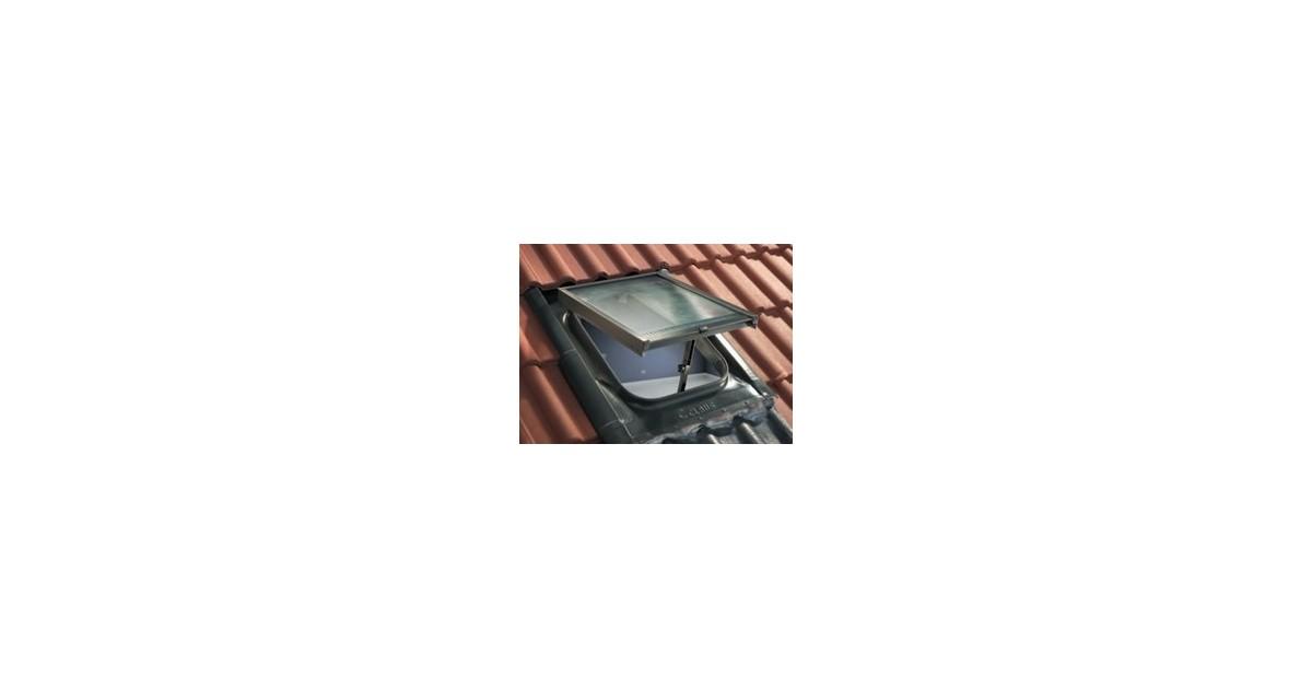 Lucernaio classico L 45 x H 57 Claus serie Base WL04GAV grigio antracite con vetro retinato 6 mm