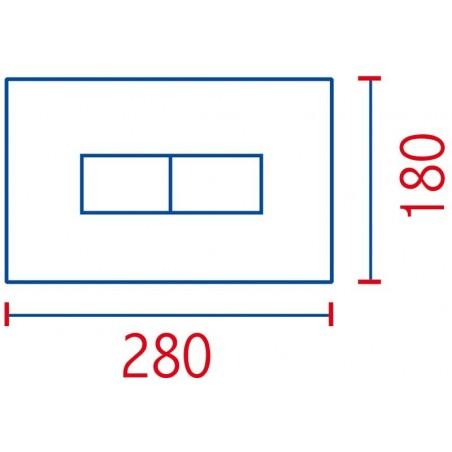 Placca linea bianca 2 pulsanti per cassetta incasso Pucci Eco 80130560