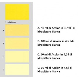Colorante universale per idropitture 45 ml Acolor 01 giallo oro