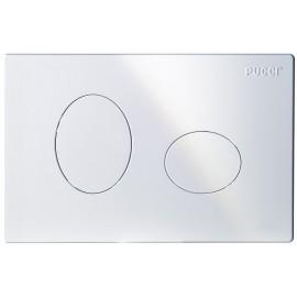 Placca ellisse bianca 2 pulsanti per cassetta incasso Pucci Eco 80130550