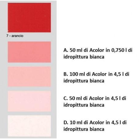 Colorante universale per idropitture 45 ml Acolor 07 arancio