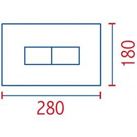Placca linea cromata 2 pulsanti per cassetta incasso Pucci Eco 80130562