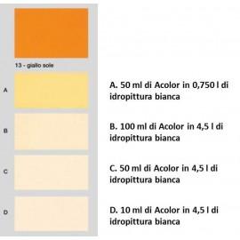 Colorante universale per idropitture 45 ml Acolor 13 giallo sole