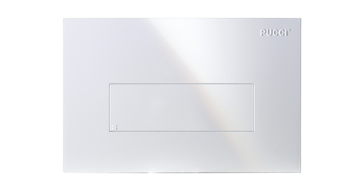 Placca linea bianca 1 pulsante per cassetta incasso Pucci Sara 80130660