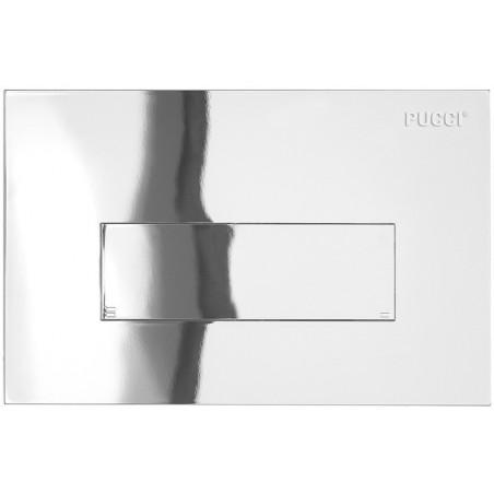 Placca linea cromata 1 pulsante per cassetta incasso Pucci Sara 80130662