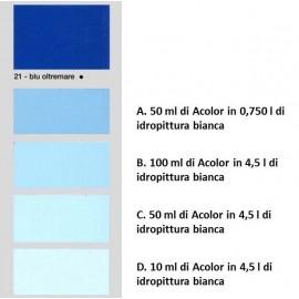 Colorante universale per idropitture 45 ml Acolor 21 blu oltremare