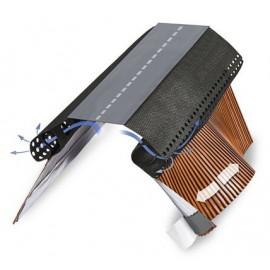 Sottocolmo impermeabile con alette in alluminio 5 mt Wierer AirbandPlus 380