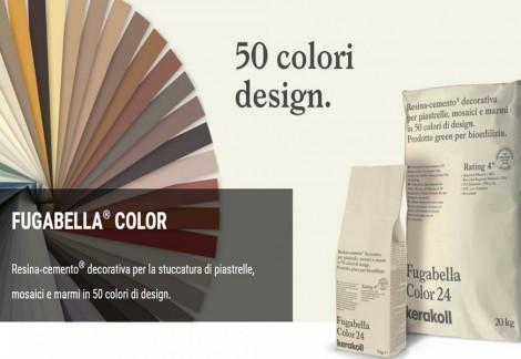 L'innovativa linea Fugabella Color della Kerakoll la trovi su Lovebrico.com